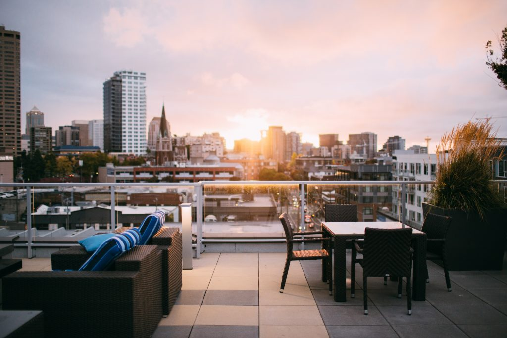 Un rooftop luxueux